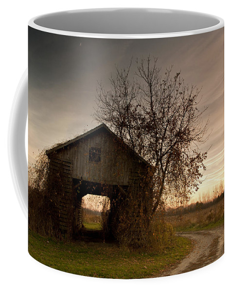 Farm Coffee Mug featuring the photograph Corn Crib by Cale Best