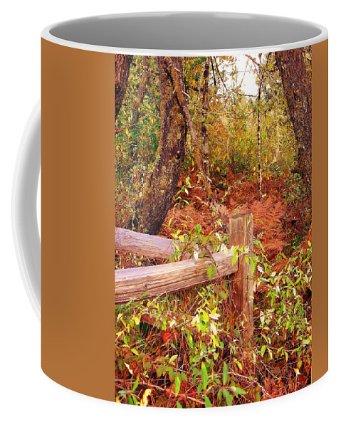 Post Coffee Mug featuring the photograph Corner Post by Pamela Patch