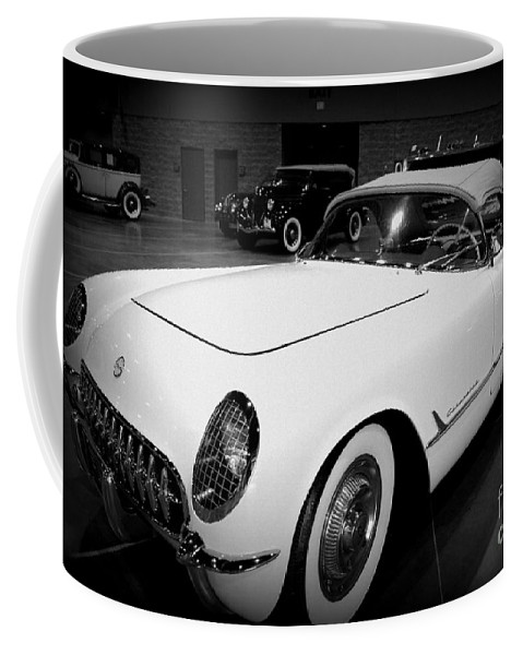 Corvette 55 Coffee Mug featuring the photograph Corvette 55 Convertible by Susanne Van Hulst