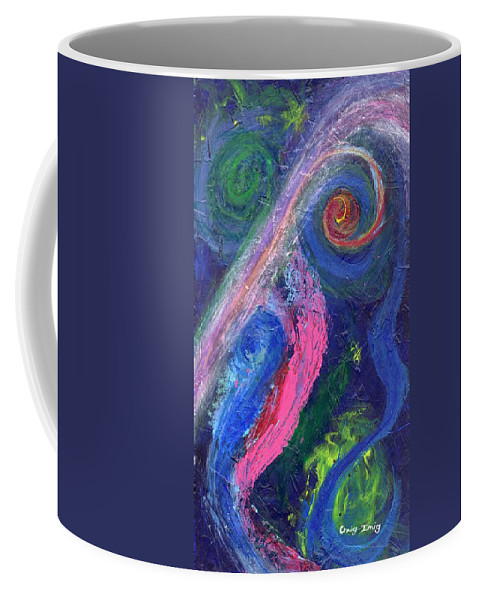 Psychedelic Coffee Mug featuring the painting Cosmic Activity # 8 by Craig Imig