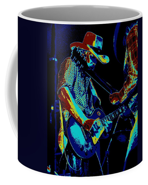 Tommy Crain Coffee Mug featuring the photograph Cosmic Cdb At Winterland In 1975 by Ben Upham