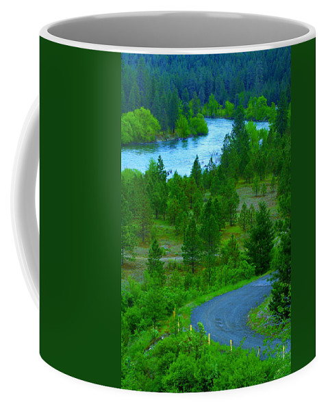 River Coffee Mug featuring the photograph Cosmic River Road by Ben Upham III