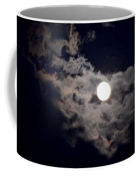 Cotton-like Coffee Mug featuring the photograph Cotton Moonlight by Maria Urso