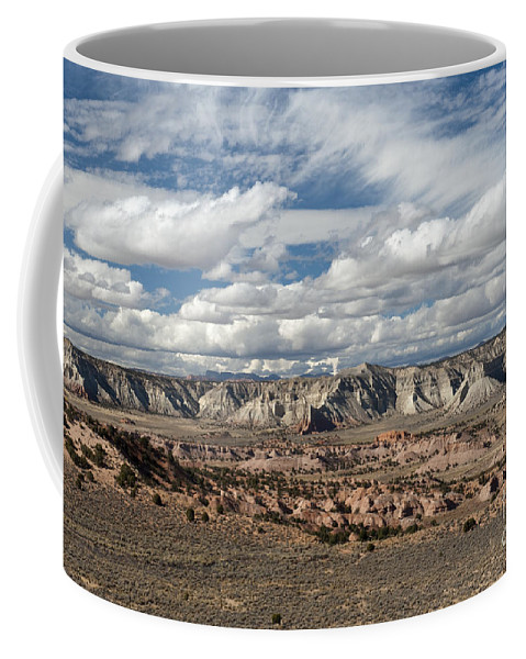 Southwest Coffee Mug featuring the photograph Cottonwood Canyon Badlands by Sandra Bronstein