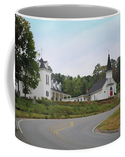 Church Coffee Mug featuring the photograph Country Church In Texture by Jost Houk