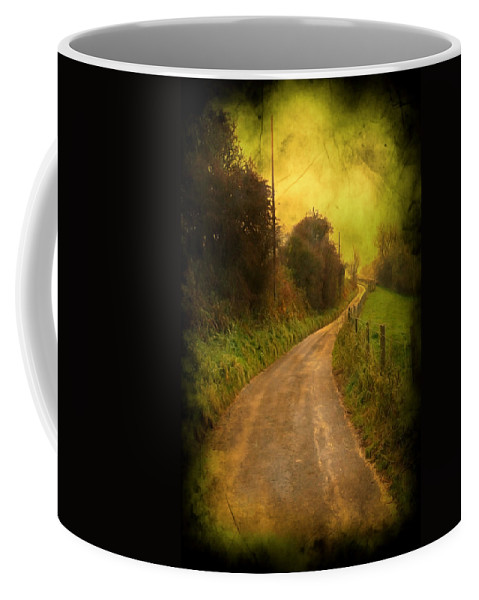 Abstract Coffee Mug featuring the photograph Countryside Road by Svetlana Sewell