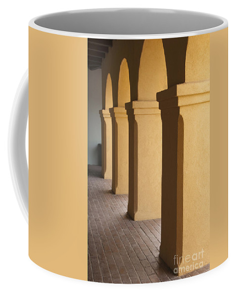 Sandra Bronstein Coffee Mug featuring the photograph Courtyard Entry by Sandra Bronstein