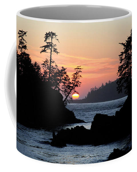 Ucluelet Sunset Coffee Mug featuring the photograph Cove At Sunset by David Vockeroth