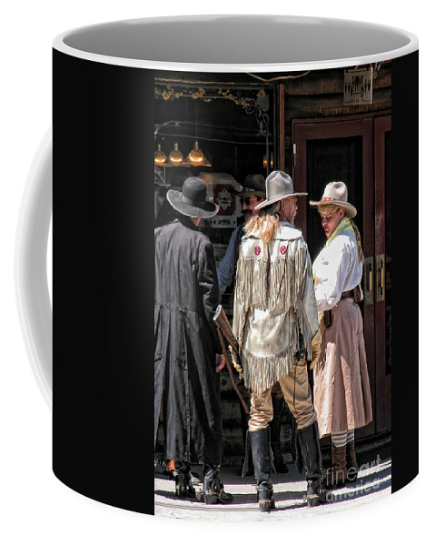 Cowboy Coffee Mug featuring the photograph Cowboys by Kathleen K Parker