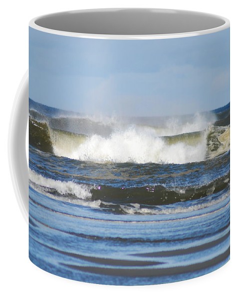 Waves Coffee Mug featuring the photograph Crashing Waves by Michael Merry