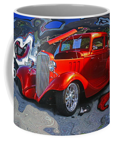 Cars Coffee Mug featuring the photograph Crazy Background by Randy Harris