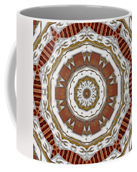 Abstract Coffee Mug featuring the mixed media Creame Cake Abstracte by Pepita Selles