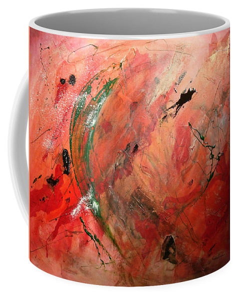 Coffee Mug featuring the painting Creation by Ronald Brischetto