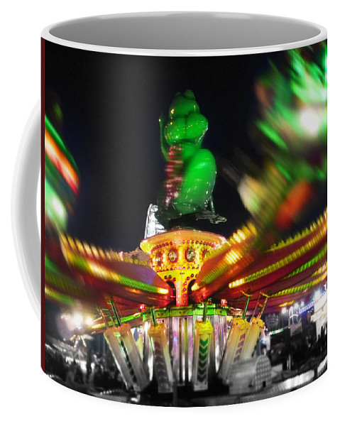 Ride Coffee Mug featuring the digital art Cricket Hopper by Charles Stuart
