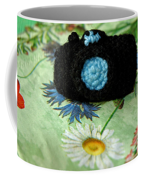Usa Coffee Mug featuring the photograph Crochet Camera Color by LeeAnn McLaneGoetz McLaneGoetzStudioLLCcom