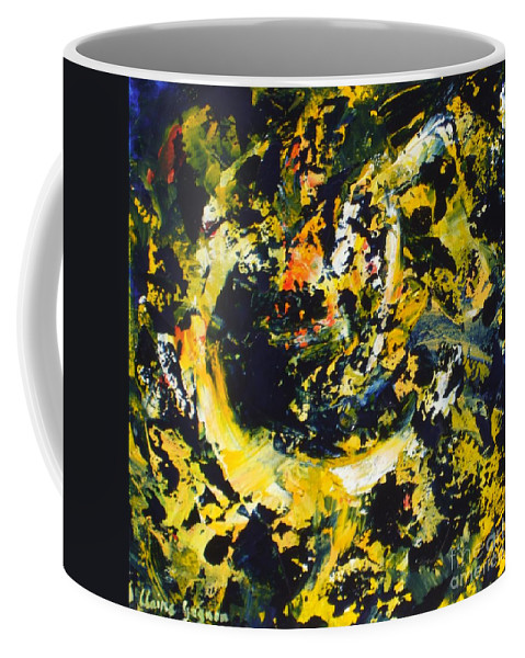 Abstract Coffee Mug featuring the painting Croissant De Lune by Claire Gagnon