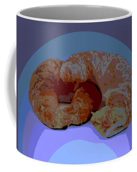 Croissant Coffee Mug featuring the photograph Croissants In Love by George Pedro