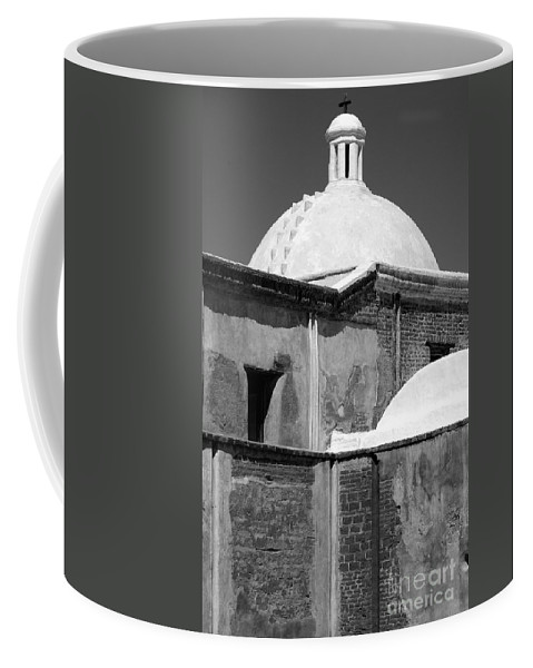 Southwest Coffee Mug featuring the photograph Cross At Tumacacori by Sandra Bronstein