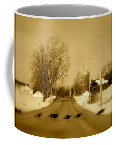 Landscape Coffee Mug featuring the photograph Crossing by Arthur Barnes