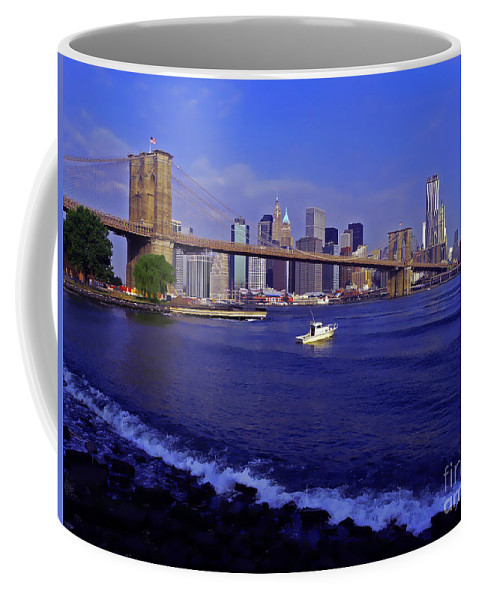 Hudson River Coffee Mug featuring the photograph Crossing The Hudson by Kendall Eutemey