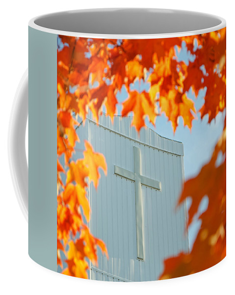 Leaves Coffee Mug featuring the photograph Crown Of Leaves by Jeff Galbraith