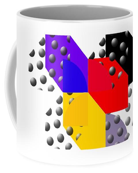 Halftone Coffee Mug featuring the painting Cruella De Stijl by Charles Stuart
