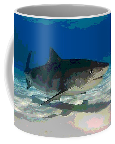 Tiger Coffee Mug featuring the photograph Cruising by George Pedro
