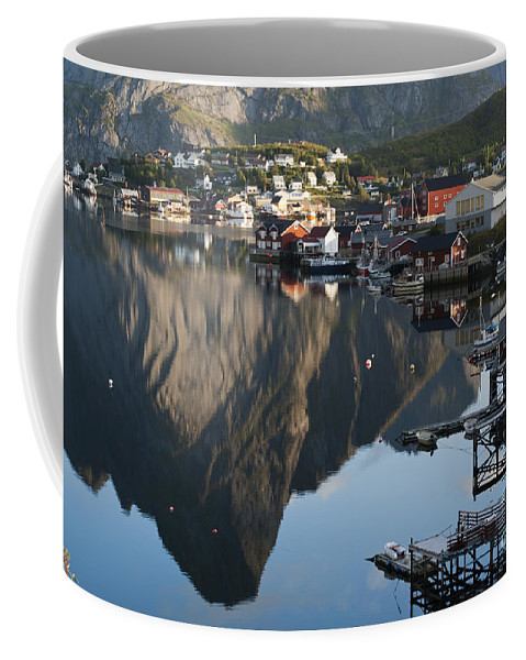Norway Coffee Mug featuring the photograph Crystal Waters At Reine Village by Heiko Koehrer-Wagner