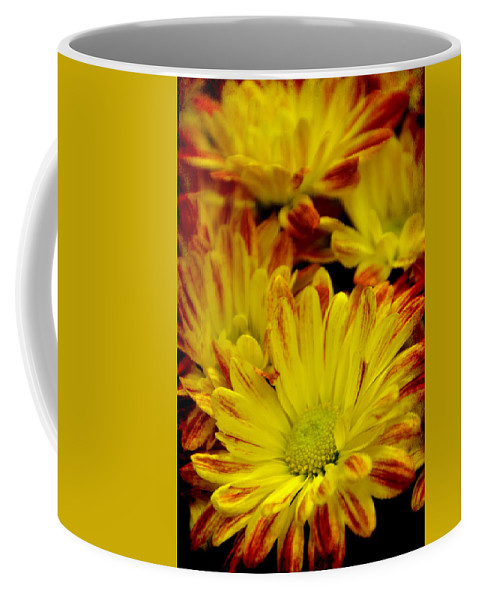 Yellow Coffee Mug featuring the photograph Cuddling by Angelina Vick