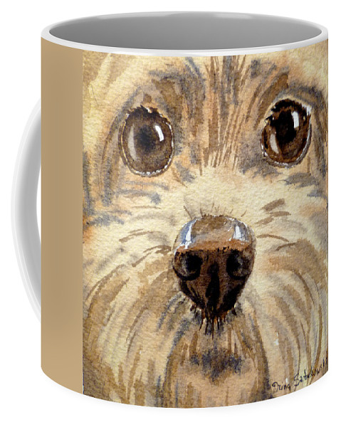 Dog Coffee Mug featuring the painting Curiosity by Irina Sztukowski