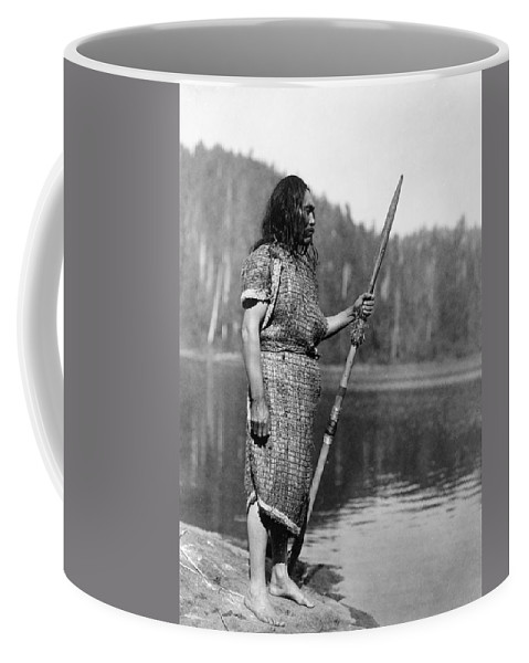 1910 Coffee Mug featuring the photograph Curtis: Nootka Man, C1910 by Granger