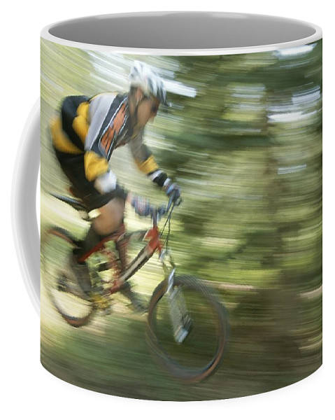 Special Effects Coffee Mug featuring the photograph Cycling On Stoner Mesa, Colorado by Bill Hatcher