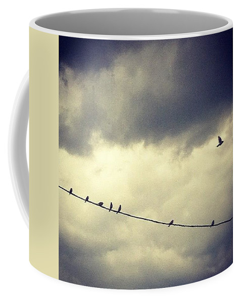 Coffee Mug featuring the photograph Da Birds by Katie Cupcakes
