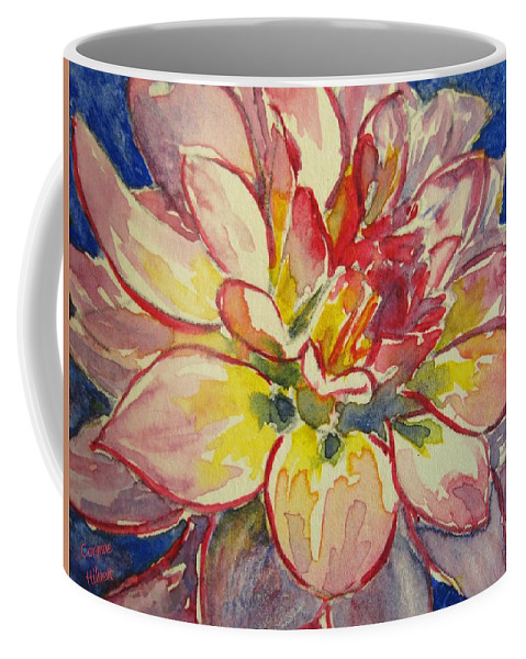 Dahlia Coffee Mug featuring the painting Dahlia by Corynne Hilbert