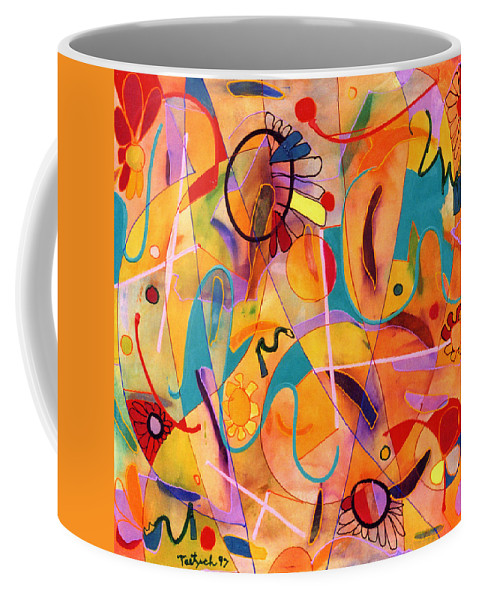 Abstract Coffee Mug featuring the painting Daisy May by Lynne Taetzsch