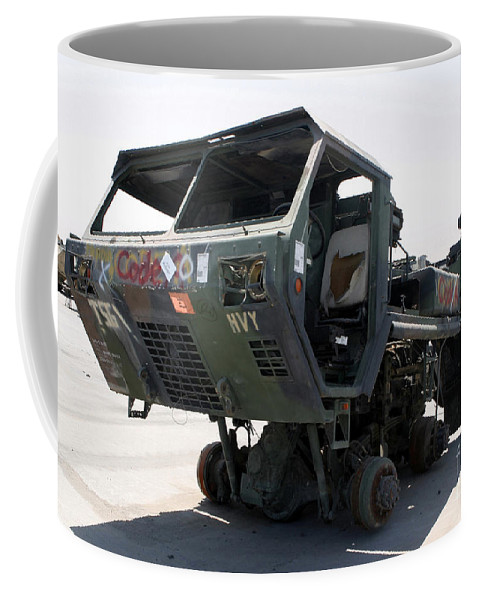 Horizontal Coffee Mug featuring the photograph Damaged Mk48 Front Power Unit by Stocktrek Images