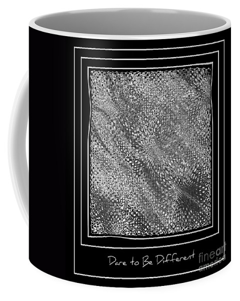 Abstract Coffee Mug featuring the photograph Dare To Be Different - Black And White Abstract by Carol Groenen