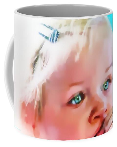 Eyes Coffee Mug featuring the mixed media Day Dreamer by Gail Bridger