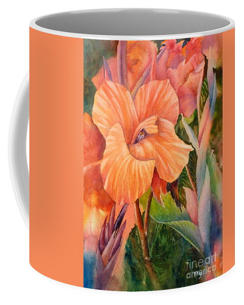 Coffee Mug featuring the painting Dazzling by Mohamed Hirji