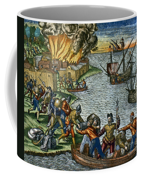 1590 Coffee Mug featuring the photograph De Bry: Chicora, 1590 by Granger