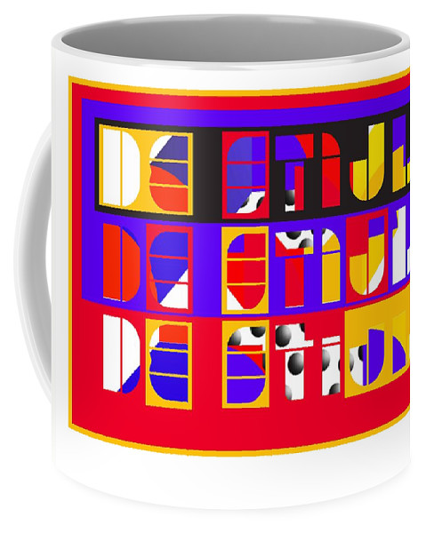 De Stijl Coffee Mug featuring the painting De Stijl by Charles Stuart