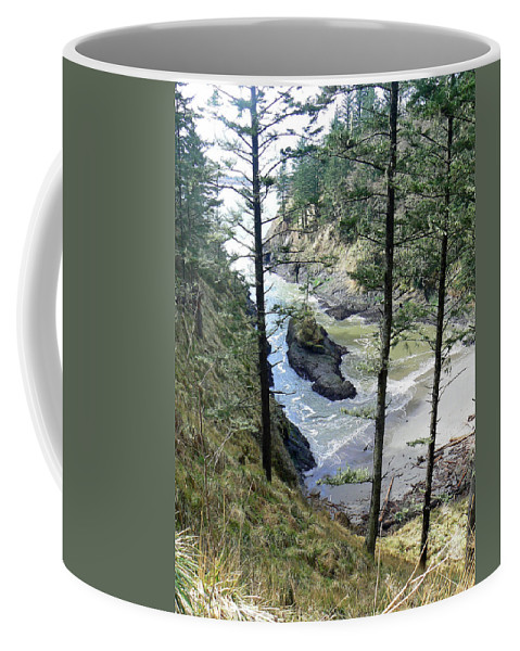 Beach Coffee Mug featuring the photograph Dead Mans Cove by Pamela Patch
