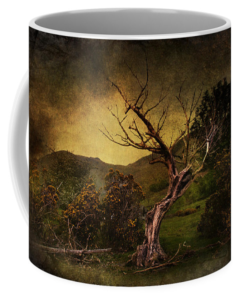 Country Coffee Mug featuring the digital art Dead Tree by Svetlana Sewell