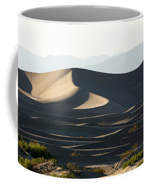 Death Valley Dunes Coffee Mug featuring the photograph Death Valley Dunes by Wes and Dotty Weber