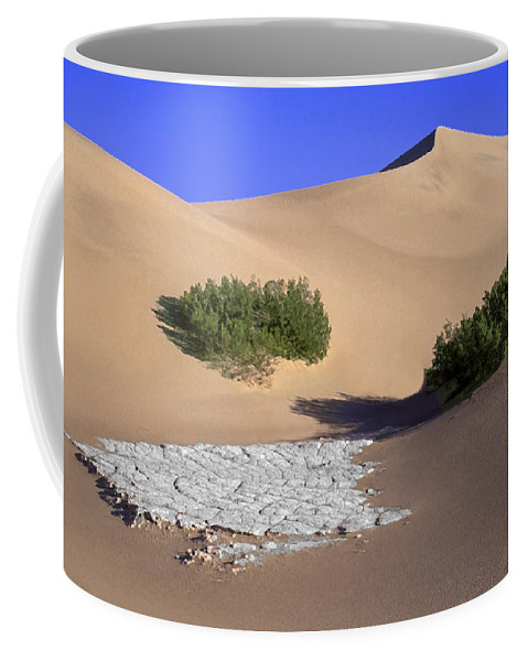 Death Valley Coffee Mug featuring the photograph Death Valley Salt Flat by Dave Mills