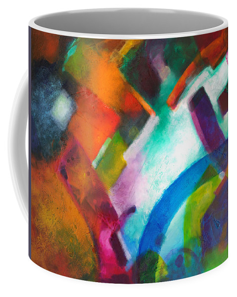 Geometric Paintings Coffee Mug featuring the painting Declaration by Sally Trace