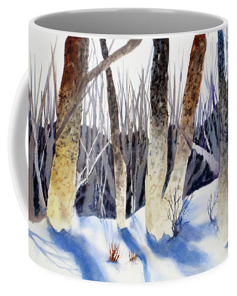 Coffee Mug featuring the painting Deep Woods 1 by Mohamed Hirji
