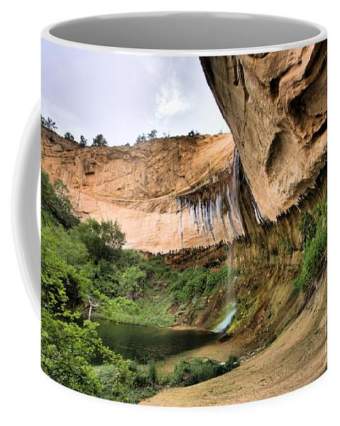 Upper Calf Creek Falls Coffee Mug featuring the photograph Demon Canyon by Adam Jewell