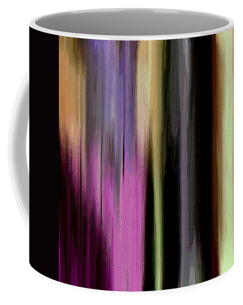 Abstract Art Coffee Mug featuring the painting Departed by Ely Arsha