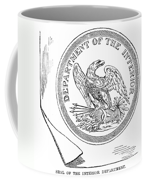 America Coffee Mug featuring the photograph Department Of The Interior by Granger